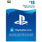 Playstation Network Live USD 15 Online Gift Card