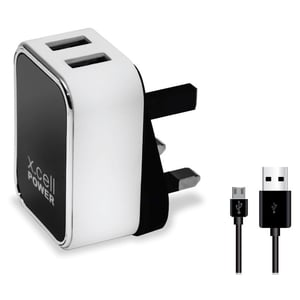 Xcell Dual USB Home Charger With Micro USB