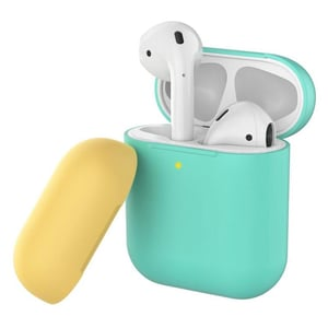Promate SILICASE Silicon Case For AirPods Green