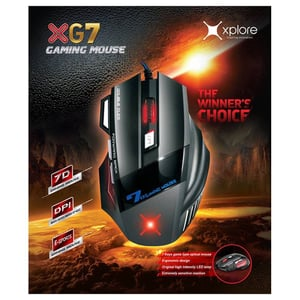 Xplore XG7 Wired Gaming Mouse Black