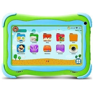 G-Tab Q4+W607 Kids Tablet - WiFi 16GB 1GB 7inch Green with Smart Band