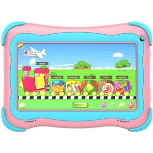 G-Tab Q4+W607 Kids Tablet - WiFi 16GB 1GB 7inch Pink with Smart Band