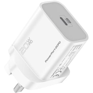 Promate Power Delivery Wall Charger 15cm White
