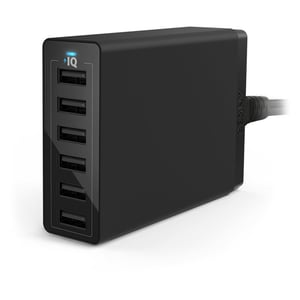 Anker Powerport QC60W 6Port Wall Adapter Black - ANA2123K12
