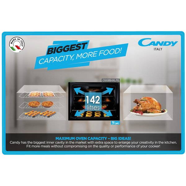 Candy 5 Gas Burners Cooker CGG95HXLPG