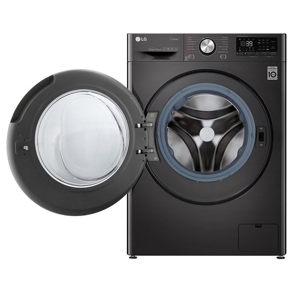 LG Front Load Washer & Dryer 10/7kg F4V9RCP2E, Bigger Capacity, AI DD, ThinQ