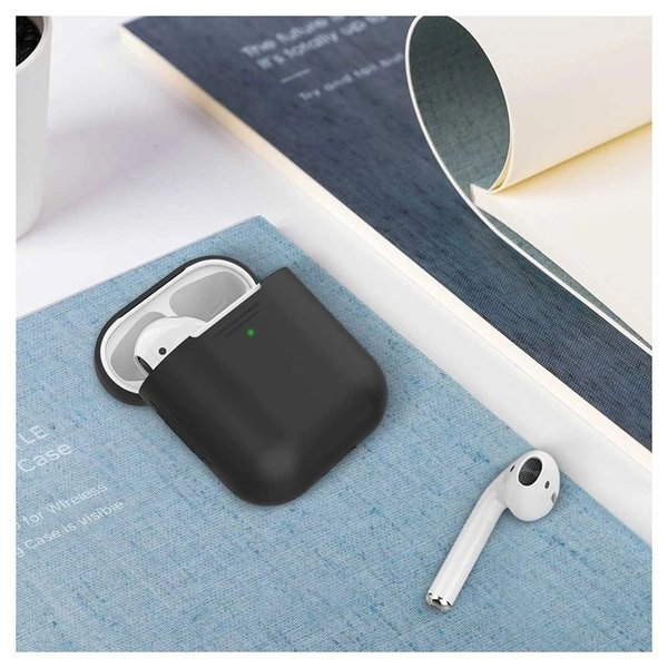 Promate Ultra Slim Silicon Case For Apple Airpods Black