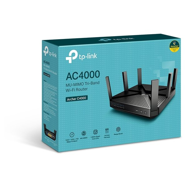 Tp-Link ARCHER C4000 AC4000 MU-MIMO Tri-Band Wi-Fi Router