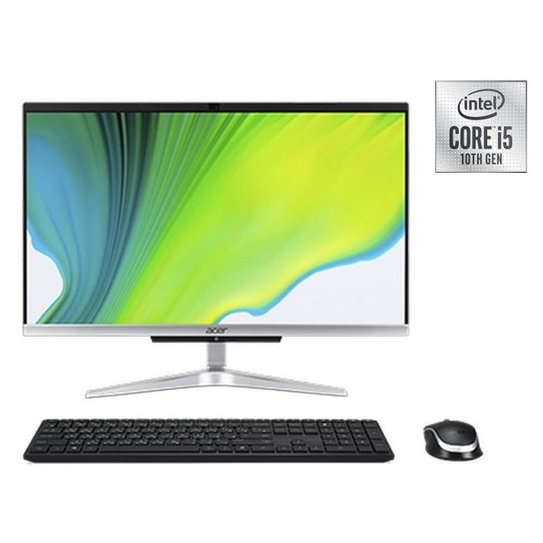 Acer Aspire C22-963 All-in-One Desktop - Core i5 1GHz 8GB 1TB+256GB Shared Win10 21.5inch FHD Black