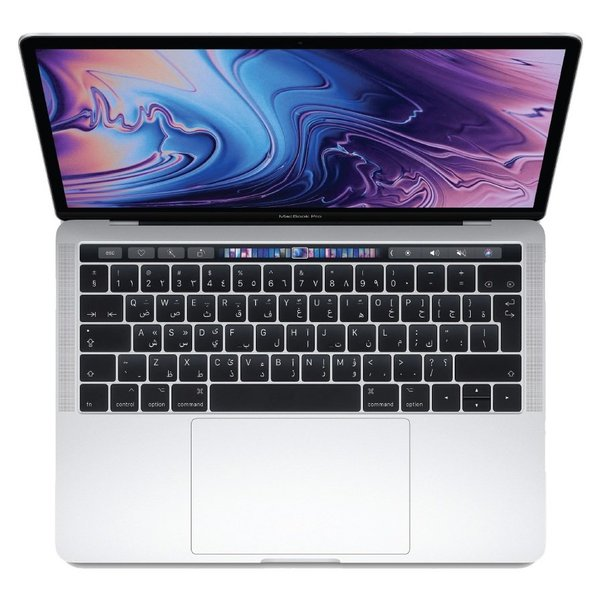 MacBook Pro 13-inch with Touch Bar and Touch ID (2018) - Core i5 2.3GHz 8GB 256GB Shared Silver English/Arabic Keyboard