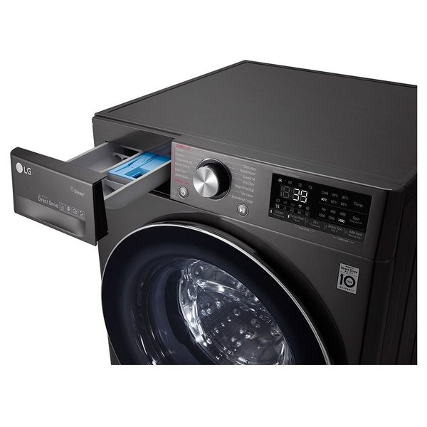 LG Front Load Washing Machine 10Kg Washer & 7Kg Dryer Bigger Capacity AI DD ThinQ F4V9RCP2E