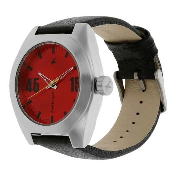 Fastrack Red Dial Analog Watch for Mens