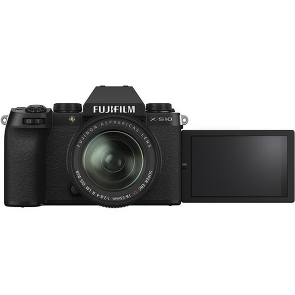 Fujifilm X-S10 Mirrorless Camera Black With XF18-55mm Lens