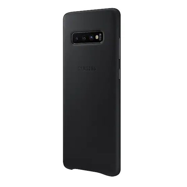 Samsung Leather Case Black For Galaxy S10 Plus