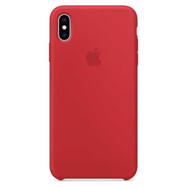 Apple Leather Case Product Red For iPhone XS
