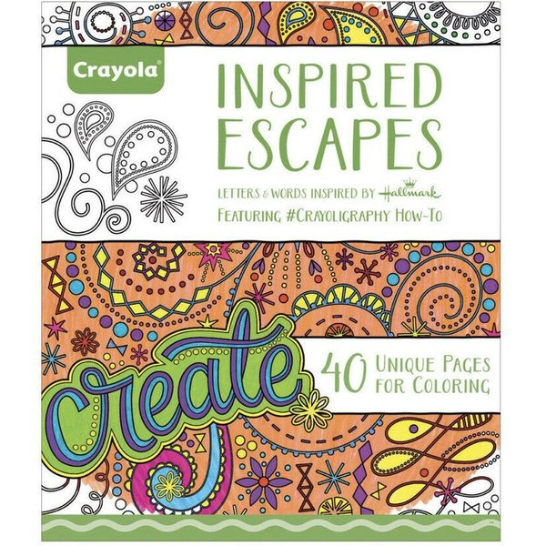 Buy Crayola Inspired Escapes Coloring Book In Dubai Sharjah Abu Dhabi Uae Price Specifications Features Sharaf Dg