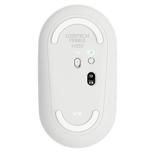 Logitech Pebble M350 Wireless Bluetooth Mouse Off-White