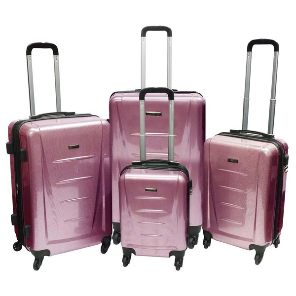 Highflyer Inspire Trolley Luggage Bag Pink 4pc Set TH1614PPC4PC
